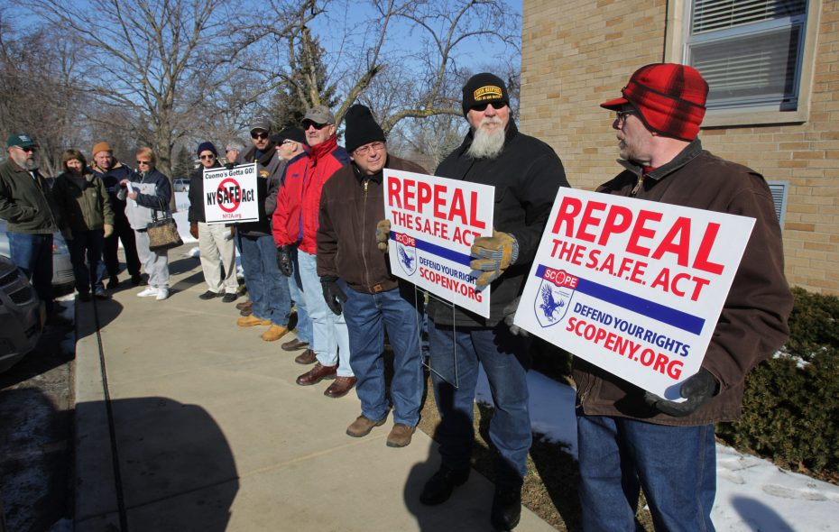 The Grand Island Town Board on Tuesday passed a resolution opposing new gun-control measures that could gain support in the Democratic-controlled State Legislature. (Sharon Cantillon/News file photo)