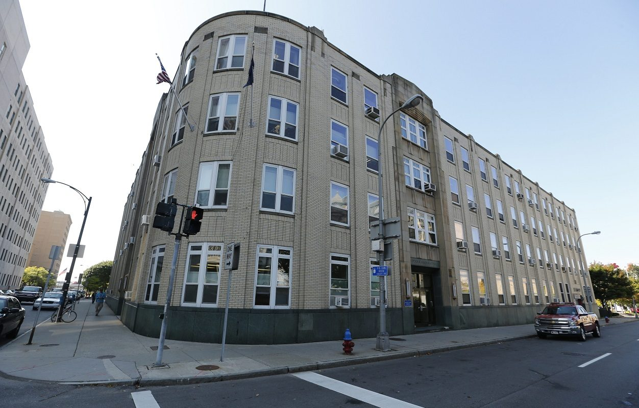 The former Buffalo Police Headquarters at 74 Franklin St. (Derek Gee/News file photo)