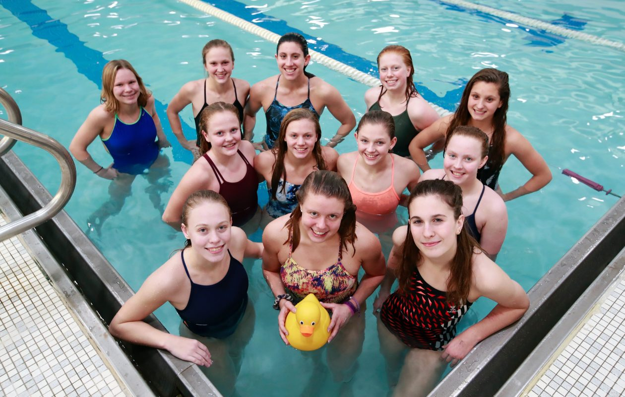 The Orchard Park swimming and diving team is sending 12 competitors to this weekend's New York State Championships at Ithaca College, one of the largest groups in school history. (Harry Scull Jr./Buffalo News)