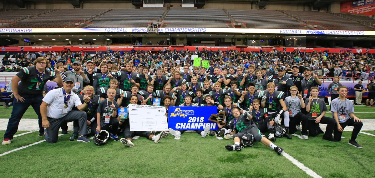 Clymer/Sherman/Panama celebrates its state title. (Harry Scull Jr./Buffalo News)