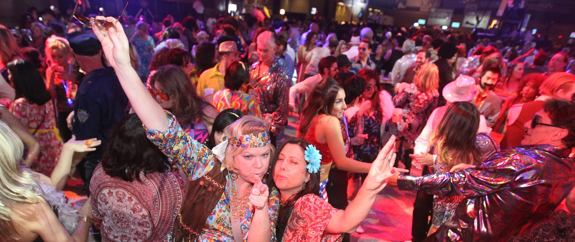 The Buffalo Niagara Convention Center becomes almost unrecognizable during the World's Largest Disco. (John Hickey/Buffalo News)