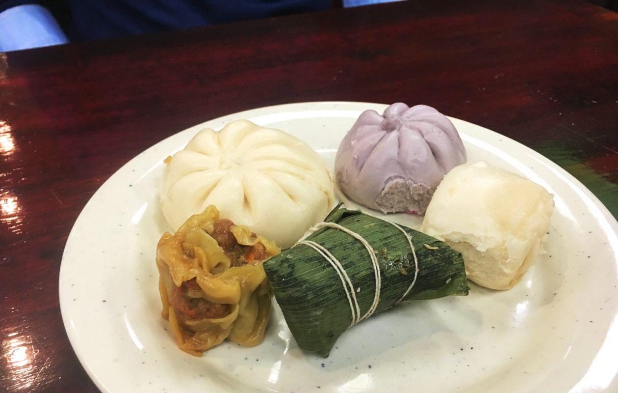 Dumplings, bao and zongzi at Sukishi Buffet. (Caitlin Dewey/The Buffalo News)