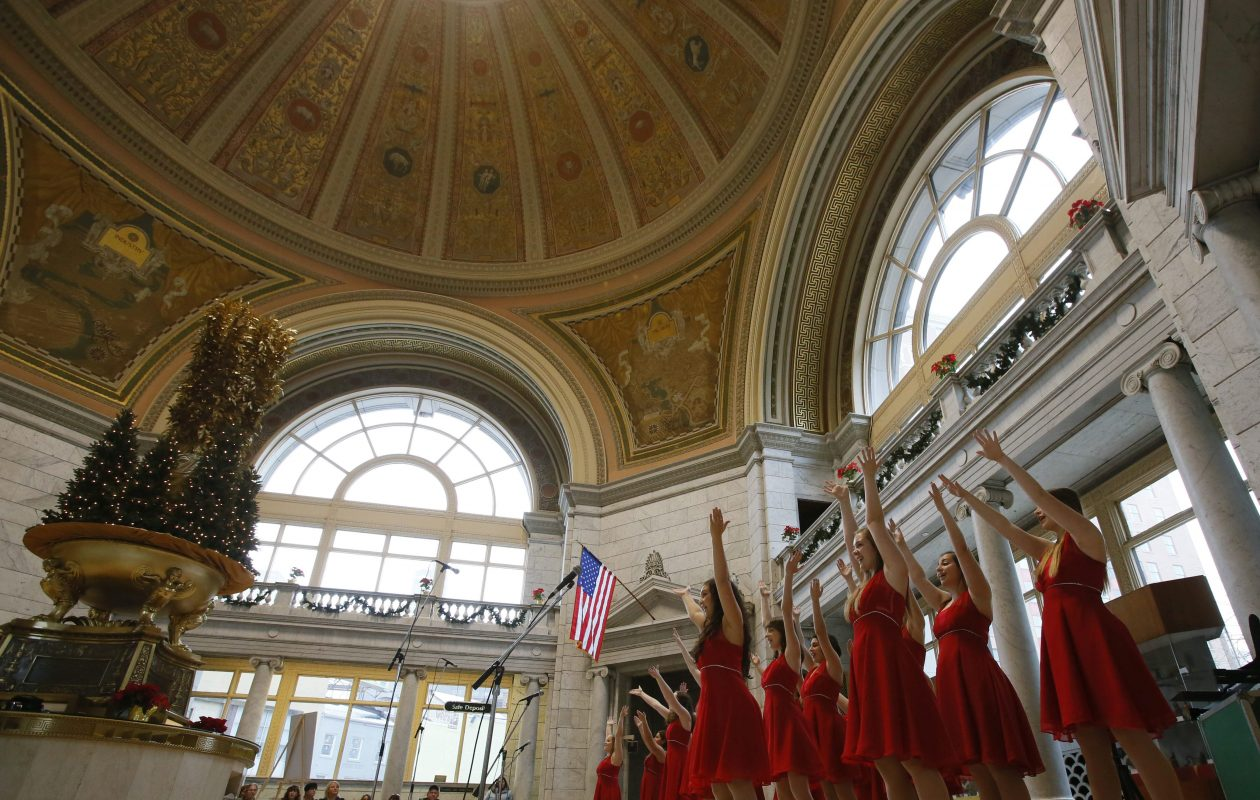 M&T Bank's 'Holiday Music Under the Dome' concert series at Fountain Plaza is returning. (Derek Gee/Buffalo News file photo)