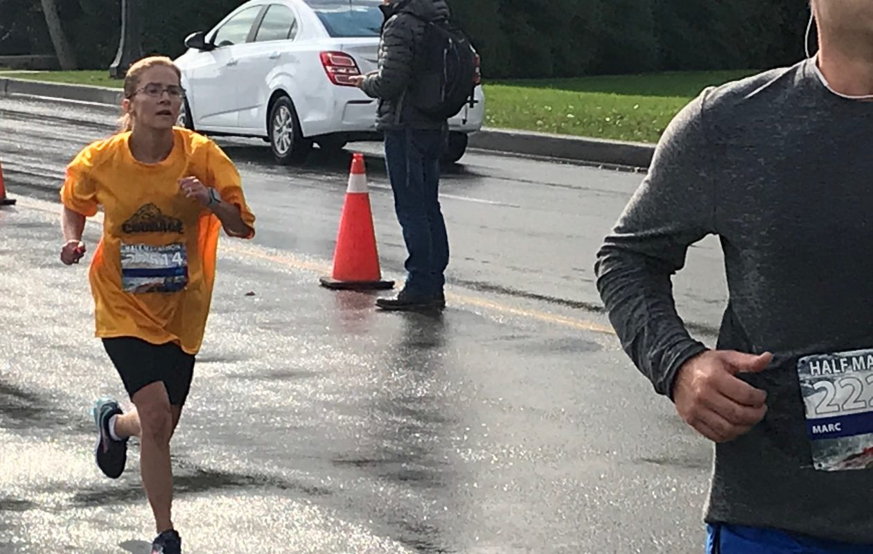 Nicole Oliver runs in the Niagara Falls half-marathon. (Provided photo)