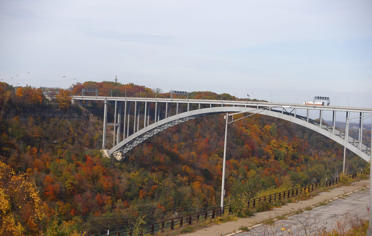 The Lewiston-Queenston Bridge is one of three international bridges in Niagara County operated by the Niagara Falls Bridge Commission. (John Hickey/News file photo)