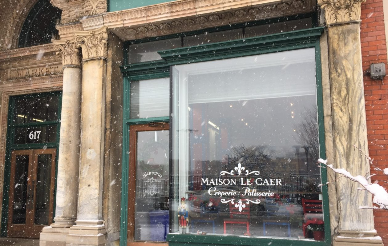 French crêperie cafe sets market arcade opening