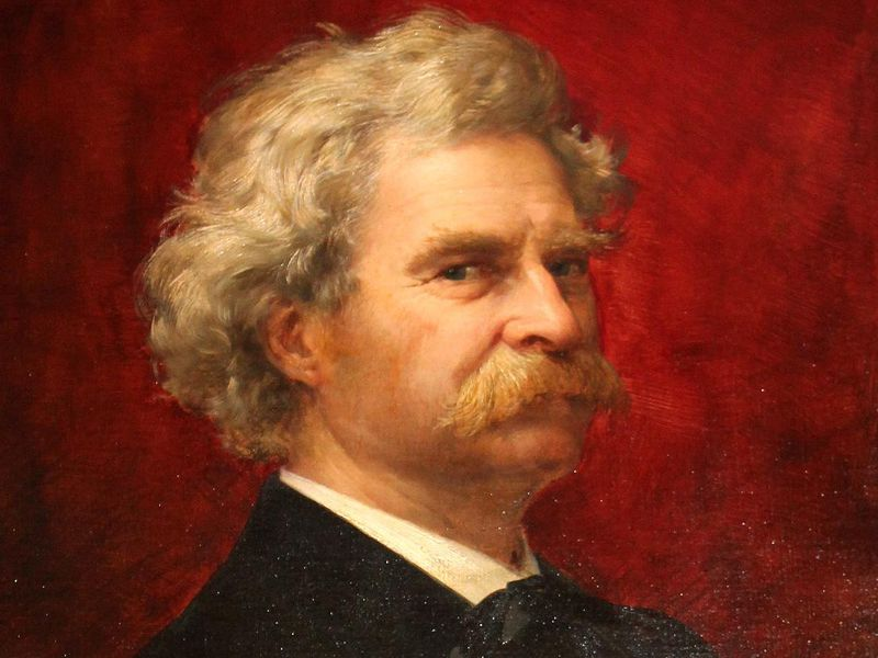 (Portrait of Mark Twain circa 1905 from the Mark Twain Library in Redding, Conn.)