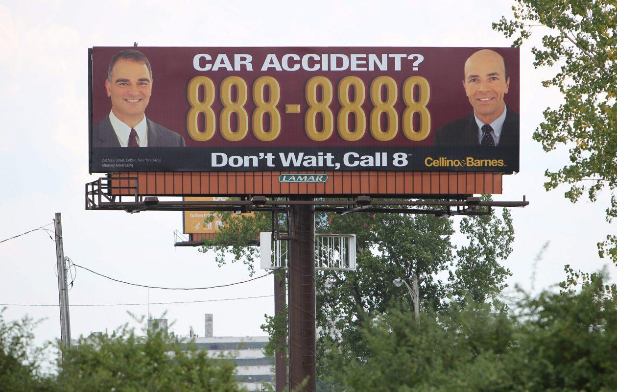 A Cellino Barnes billboard near Rt. 5 in Buffalo in 2012. (Photo by Sharon Cantillon/News file photo)