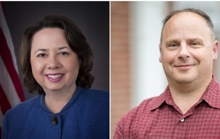 Democrat Francina Spoth and Republican Jeffery Zeplowitz squared off in the race for Amherst town clerk. (Submitted photos)