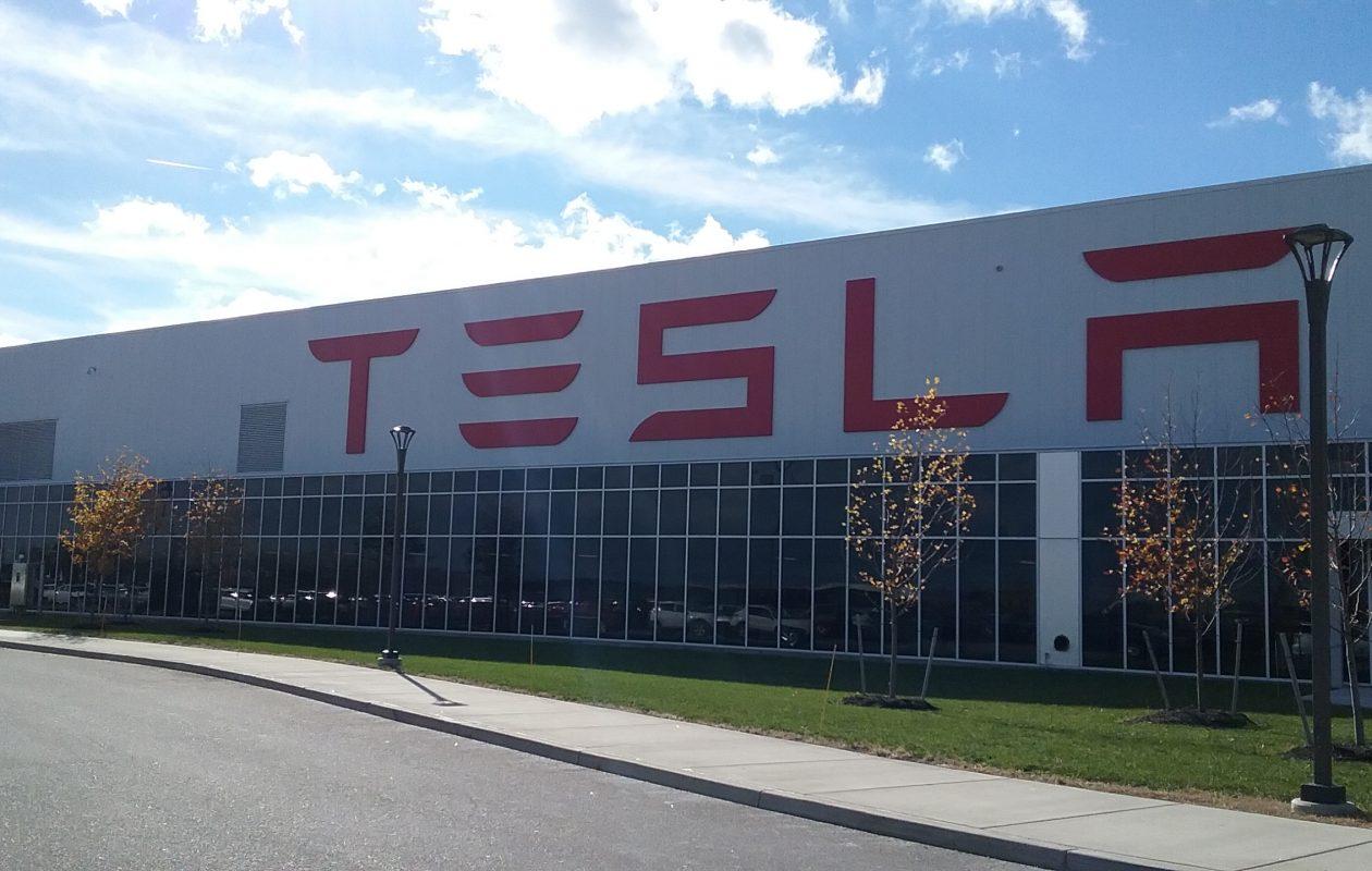 Tesla says 400 people are working at the South Buffalo factory. (Matt Glynn/Buffalo News)