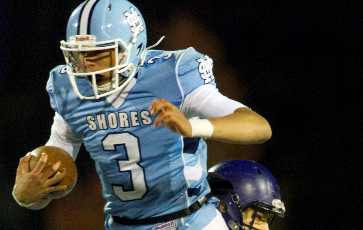 Mona Shores' Tyree Jackson runs against Caledonia during the Division 2 football playoff opener at Mona Shores in Norton Shores Saturday, Nov. 1, 2014. Mona Shores won 42-14. (Cory Morse   MLive.com)