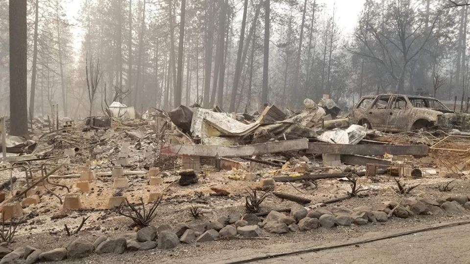 What used to be the  home of Melvina Michalowski, Valerie Griffiths' mother, in Paradise, Calif. (Submitted image)