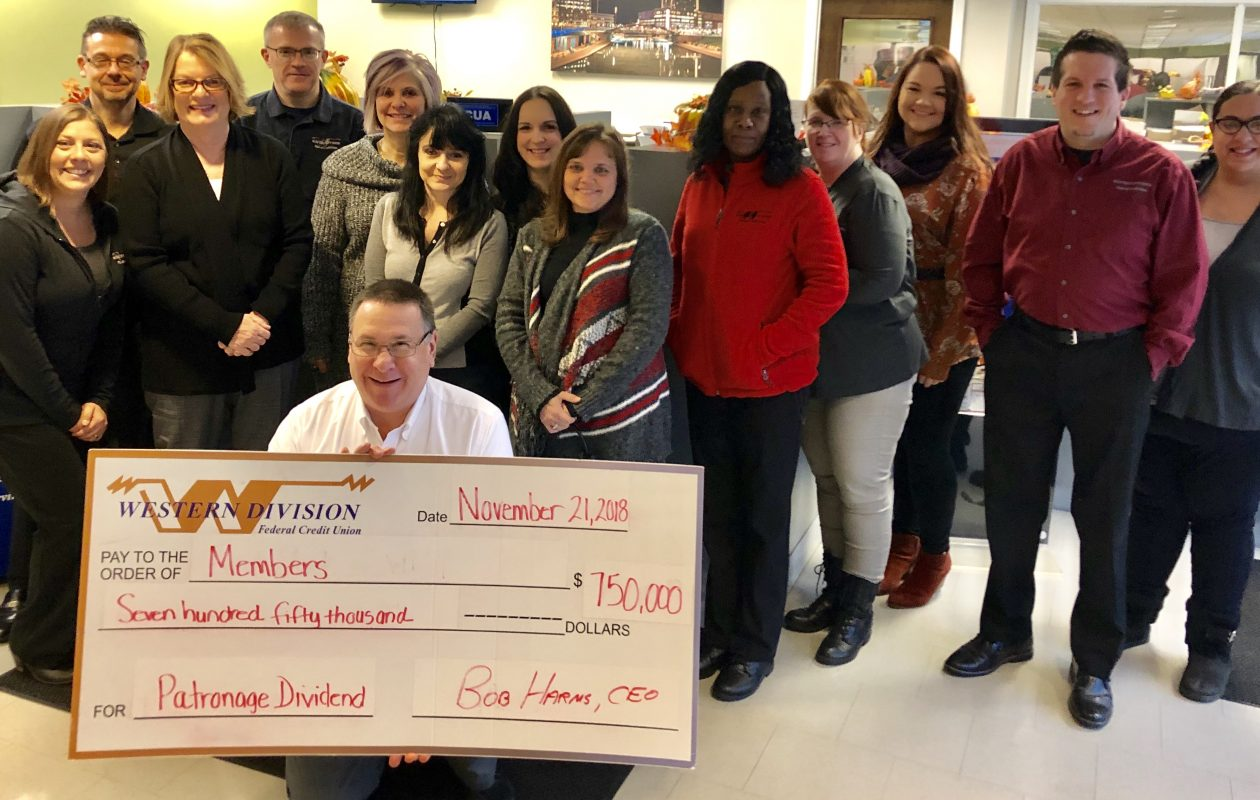 Western Division Federal Credit Union will share a $750,000 'patronage dividend' with members. (provided photo)