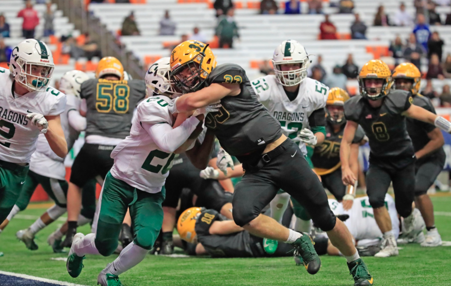 West Seneca East fell short in its state championship bid, losing to Cornwall. (Harry Scull Jr./Buffalo News)