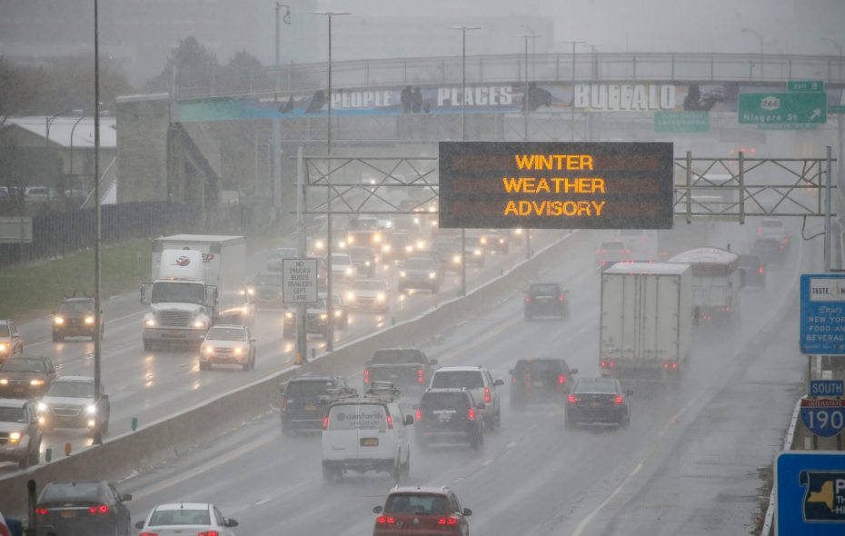 A winter weather advisory is posted for Western New York, including metro Buffalo on Wednesday. (Derek Gee/Buffalo News)