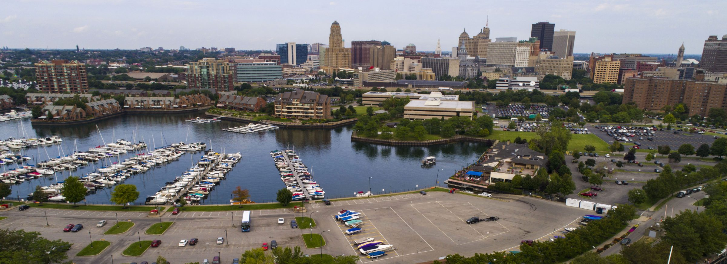 The Buffalo skyline with Erie Basin Marina in the foreground. (Derek Gee/News file photo)