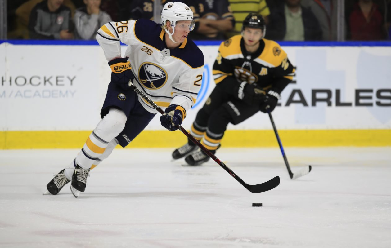 Rasmus Dahlin was named NHL Rookie of the Month. (Harry Scull Jr./ Buffalo News)