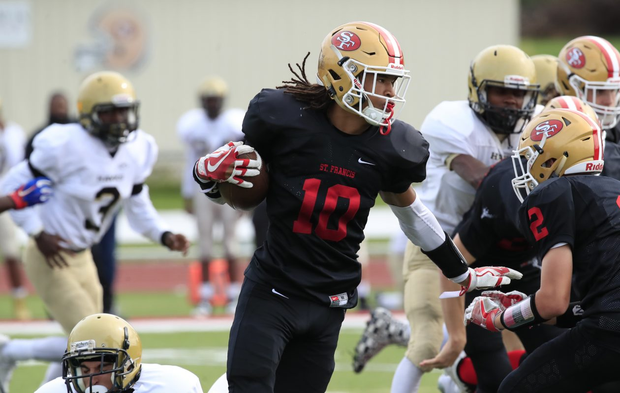 St. Francis receiver Dominik Thomas will play collegiately at Holy Cross. (Harry Scull Jr./ Buffalo News)