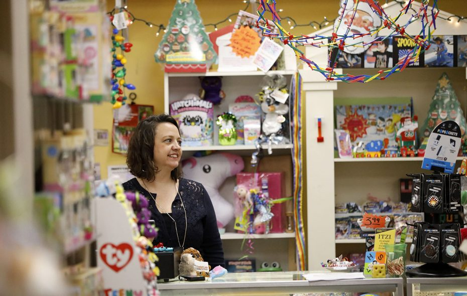 We used to worry about big-box stores killed local toy shops like Crystal Newman's Bloomsbury Lane Toy Shoppe in Lancaster, but now it's technology we should be worried about. (Derek Gee/News file photo)