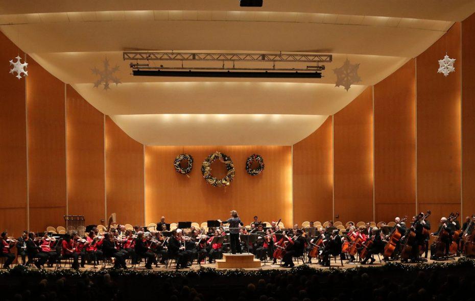 JoAnn Falletta conducts the Buffalo Philharmonic Orchestra's Christmas concert on Friday, Dec. 7, 2018. (Sharon Cantillon/Buffalo News)