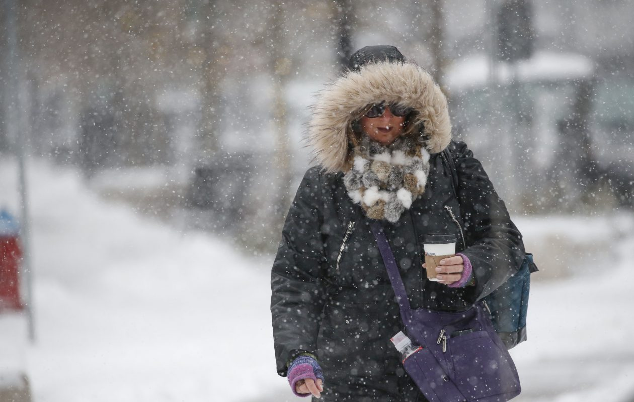 Another frigid early March day Wednesday will don mid-January-like weather with subzero wind chills, brisk winds and snow, the weather service said.  (Derek Gee/News file photo)