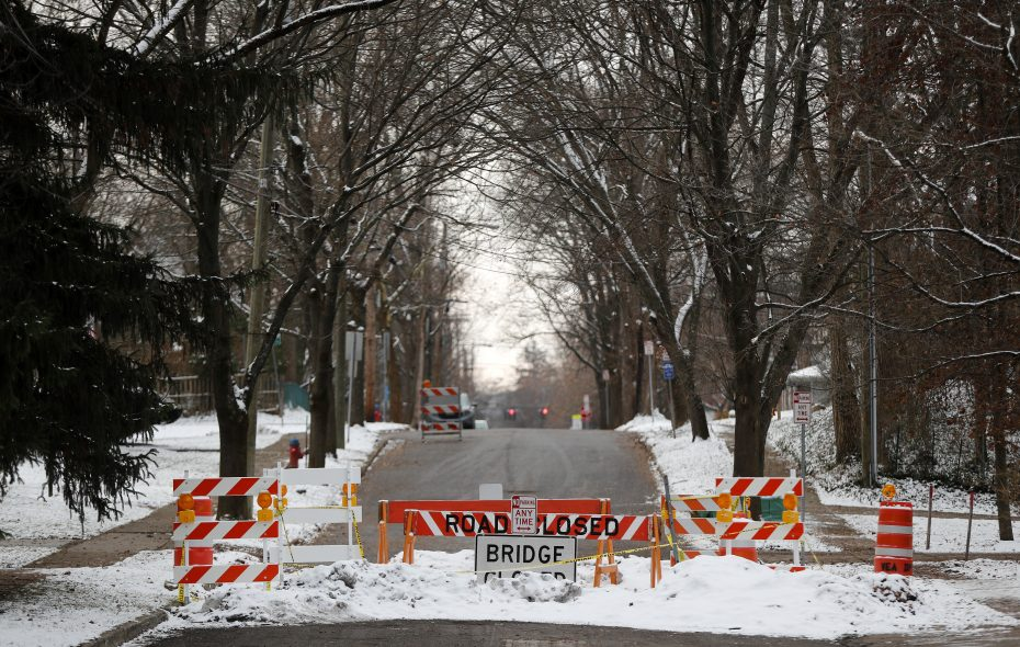 The Village of East Aurora will ask the Town of Aurora to repair the North Grove Street bridge, which has been closed between Girard and Ridge avenues. (Mark Mulville/Buffalo News)