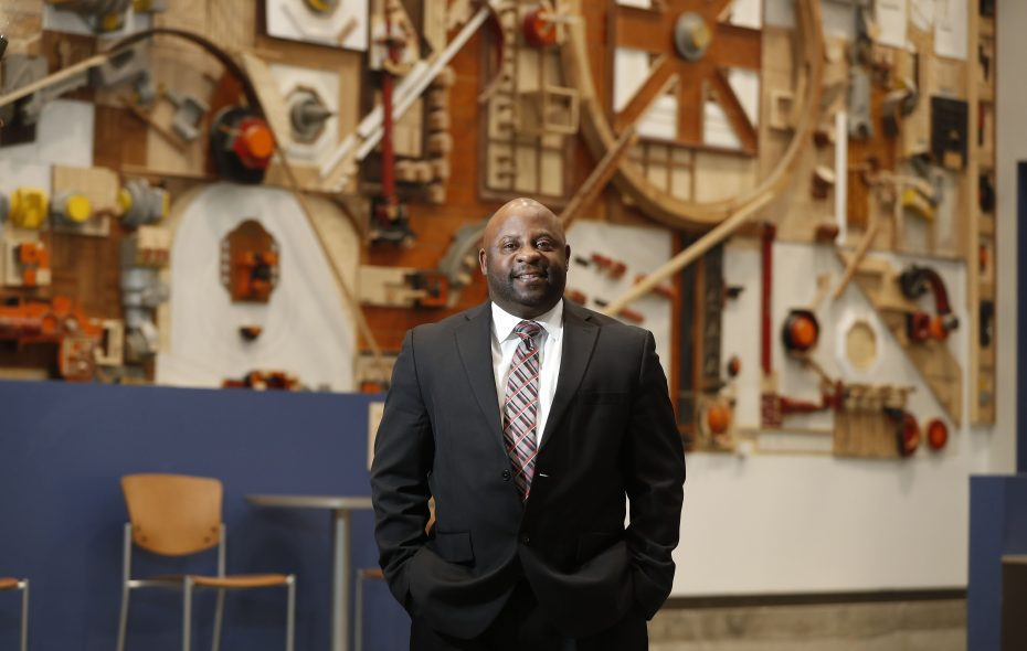 """""""We want to transform this community into an advanced manufacturing and energy corridor where people can not only get training, but ultimately get the jobs,"""" Northland Workforce Training Center President and CEO Stephen Tucker said. (Mark Mulville/Buffalo News)"""