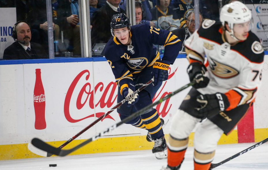 Tage Thompson is headed to Rochester. (Derek Gee/Buffalo News)