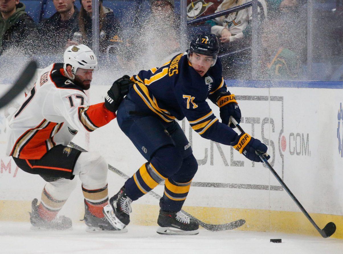 Sabres forward Evan Rodrigues finally breaks through offensively