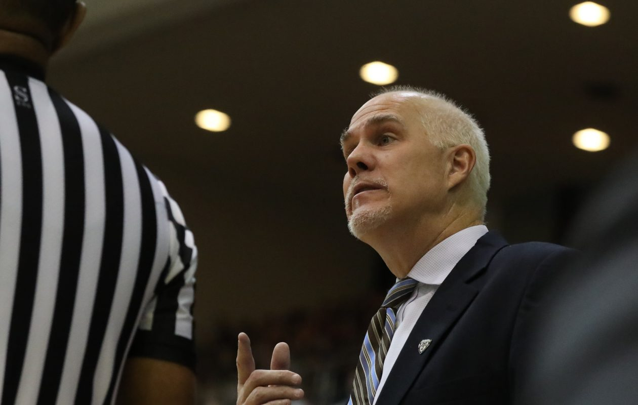 St. Bonaventure men's basketball coach Mark Schmidt. (James P. McCoy/Buffalo News)