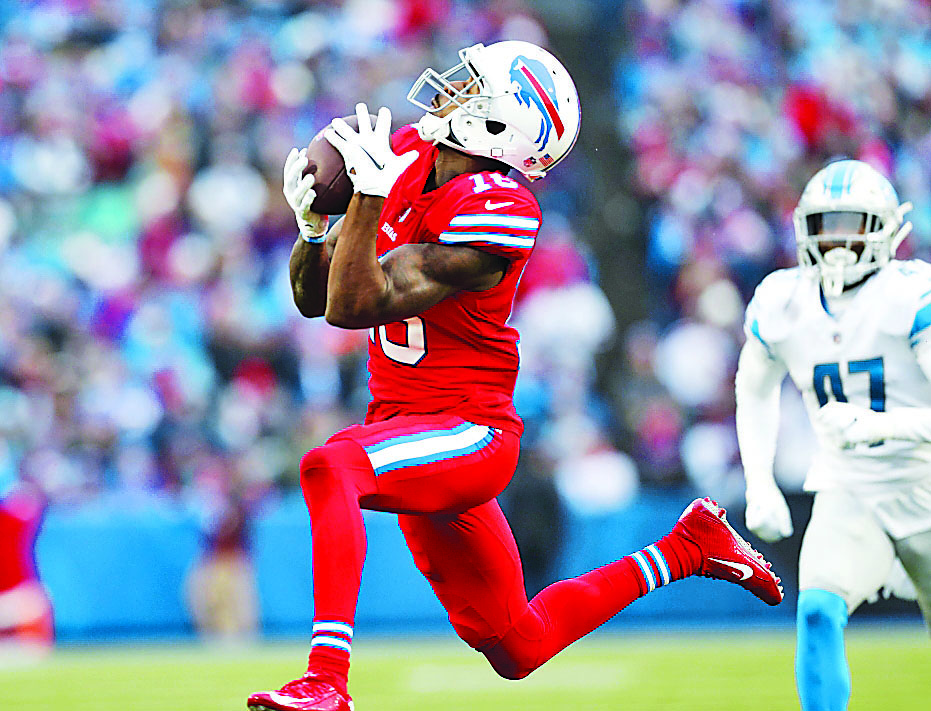 Bills rookie undrafted free agent Robert Foster led the team Sunday with four catches for 108 yards. (Mark Mulville/Buffalo News)