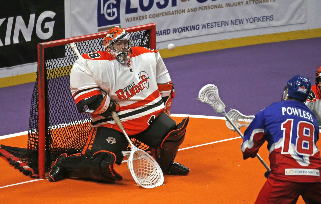Bandits goalie Matt Vinc.  (Robert Kirkham/Buffalo News)