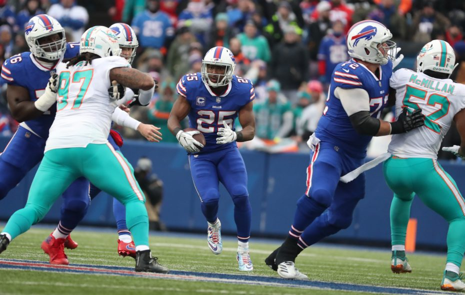 Bills running back LeSean McCoy will be back in 2019, according to General Manager Brandon Beane. (James P. McCoy/Buffalo News)