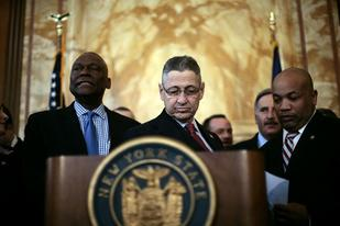 Assembly Speaker Carl Heastie, shown at right in 2013, has refused to promise any ethics reforms in exchange for a pay raise, despite Albany's corruption, including the crimes committed by his predecessor, Sheldon Silver, center. (New York Times)