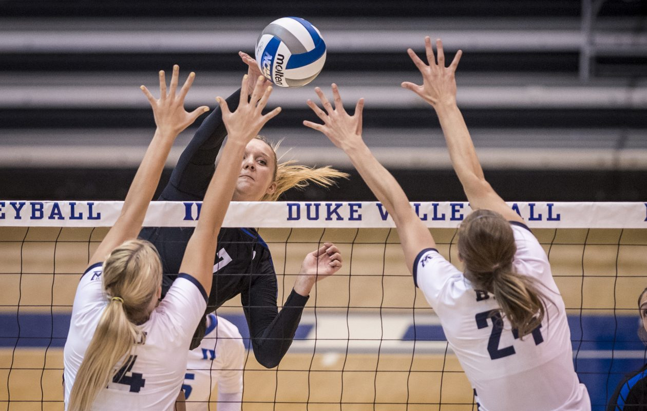 Leah Meyer was among the best in the nation in blocks (Photo: Duke University)