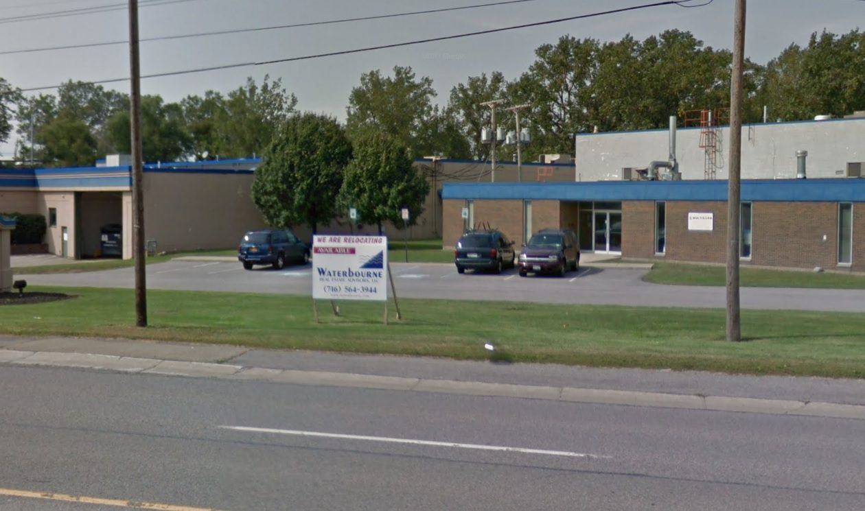 This complex of three properties on French Road was sold by Multisorb Technologies to a Canadian computer refurbisher. (Google Maps)