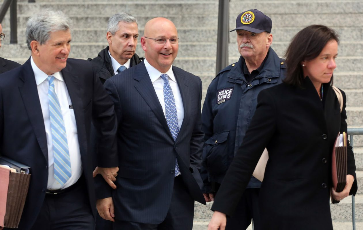 Louis Ciminelli leaves Manhattan Federal Court after being sentenced to 28 months in prison on fraud and conspiracy charges on Monday. (Jefferson Siegel/ Special to The News)