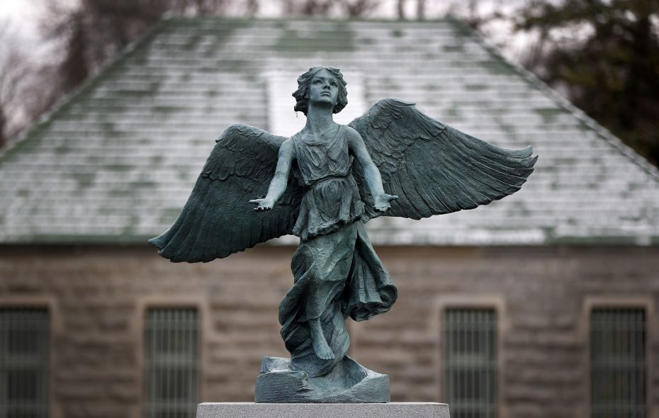 An Angel of Hope statue is to be dedicated Thursday at Forest Lawn as part of the Loving Laura Project. (Mark Mulville/Buffalo News)