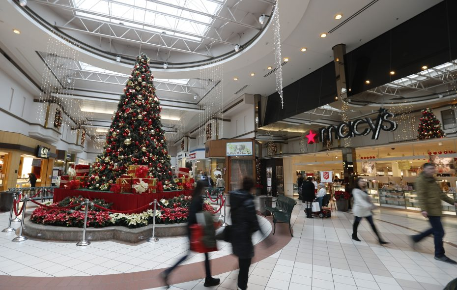 Shoppers walk in the Boulevard Mall in Amherst on Thursday. (Mark Mulville/Buffalo News)