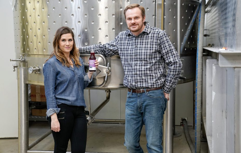 Heather Lucas and Jeff Empric, founders and operators of Bootleg Bucha, in their production facility on Niagara Street. Bootleg is the largest Kombucha brewery in New York State.