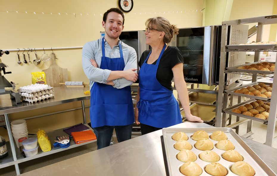 Tina Syracuse with son Brian, who inspired her gluten-free creations.