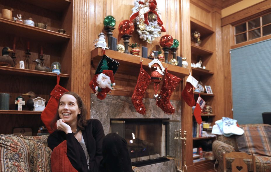 """""""In the end, what matters is family – and letting them know how much you love them,"""" says Diana Donnarumma, 26, of Clarence, who will be able to enjoy Christmas for the first time this year since health challenges led her to seek an intestinal transplant. (Robert Kirkham/Buffalo News)"""
