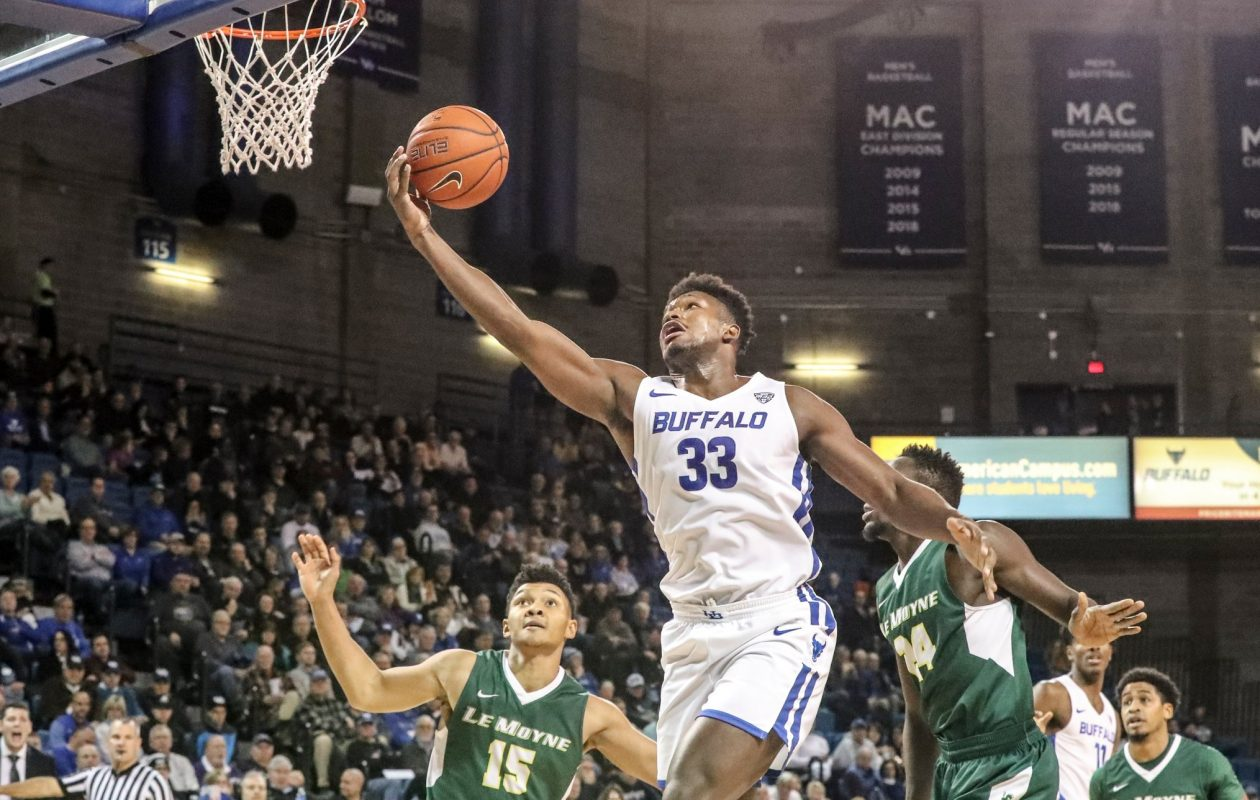 Massinburg's triple-double paces UB men's basketball in rout of Le Moyne