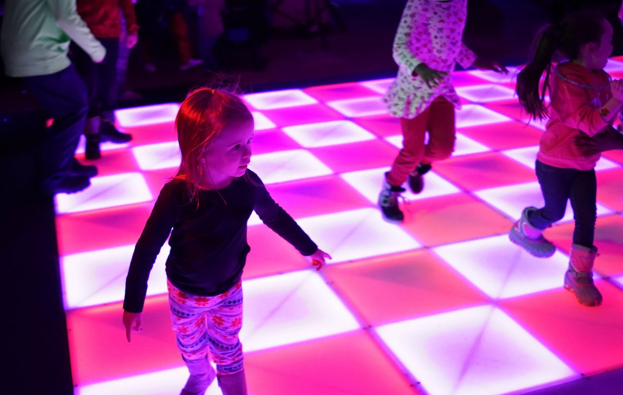 Emery Kawalec, 3, of West Seneca boogies on the dance floor during First Night Buffalo at the Buffalo Niagara Convention Center on Dec. 31, 2017.  (File photo/Derek Gee/Buffalo News)