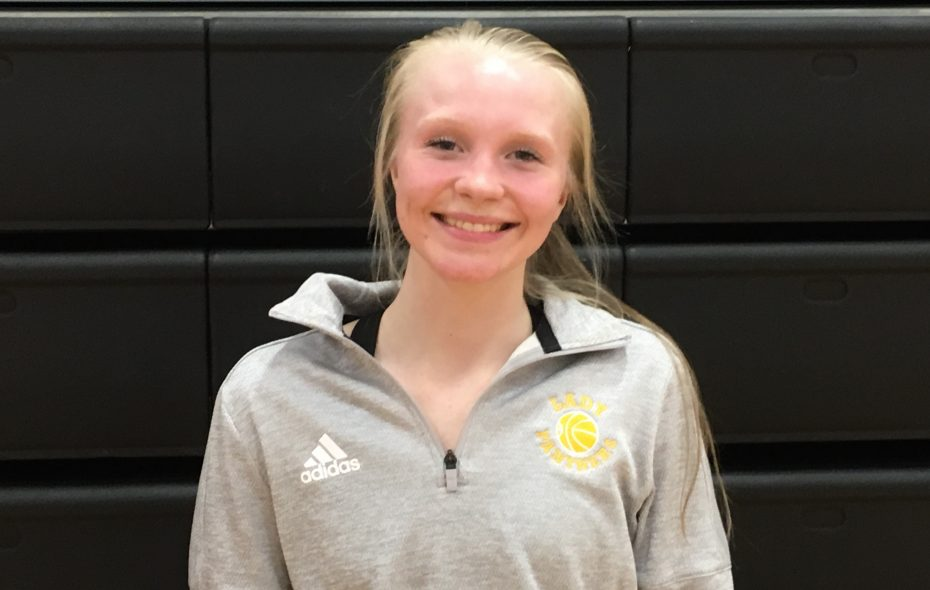 """Franklinville guard Dani """"Smudge"""" Haskell moved up to 17th on Western New York's all-time scoring list in the opening game of her junior season. (Jonah Bronstein)"""
