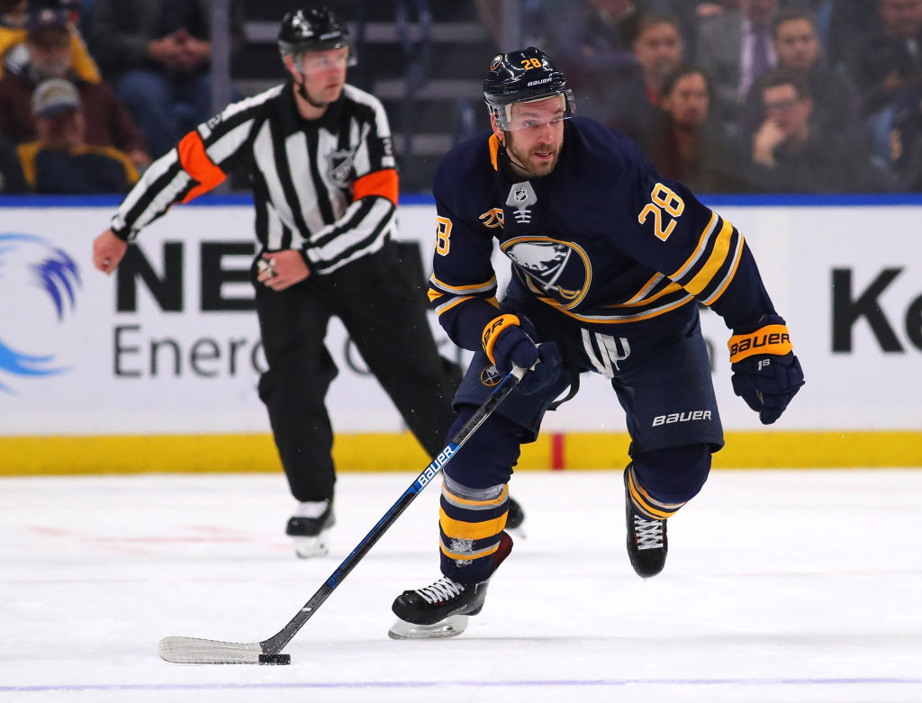 Sabres winger Zemgus Girgensons has played 379 career NHL games. (Getty Images)