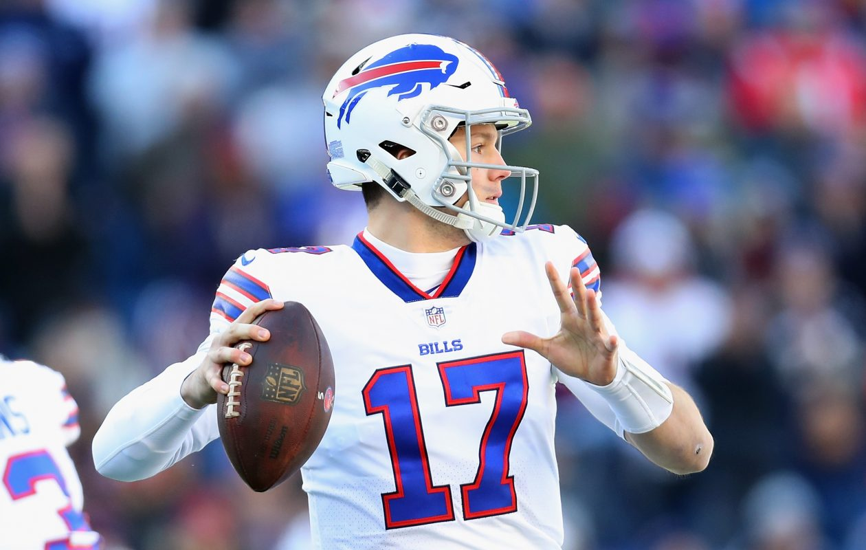 Getting Josh Allen more help is an option for the Buffalo Bills with the ninth overall pick in the NFL draft, but a case can be made for a defensive player, too. (Getty Images)