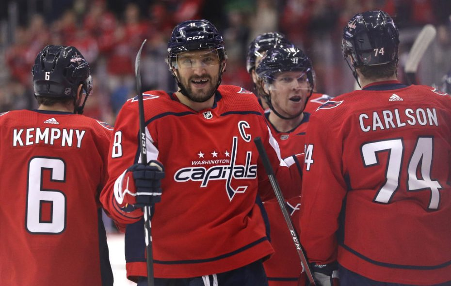 Alex Ovechkin leads the NHL with 28 goals this season. (Getty Images)