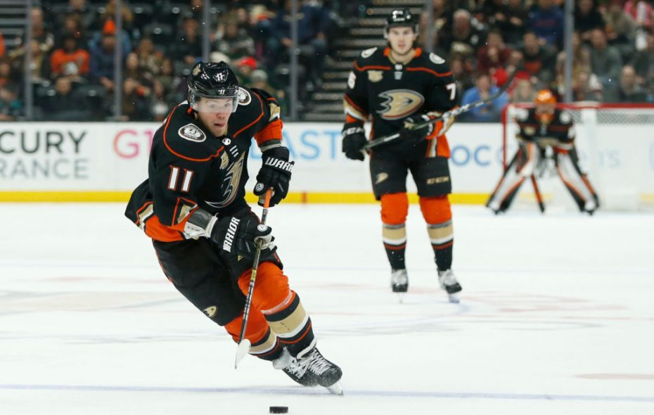 Daniel Sprong has four points in eight games for Anaheim since being acquired from Pittsburgh. (Getty Images)