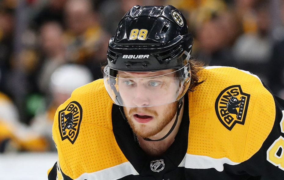 David Pastrnak has 23 goals among 47 points this season for Boston. (Getty Images)